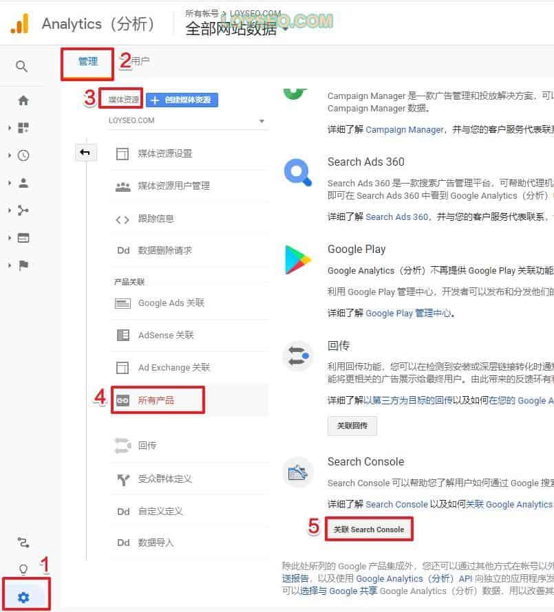 Google-analytics如何关联google-search-console-0
