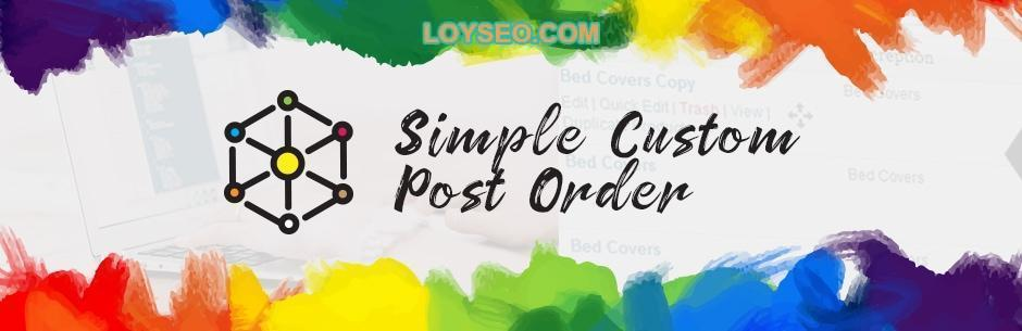 simple custom post order