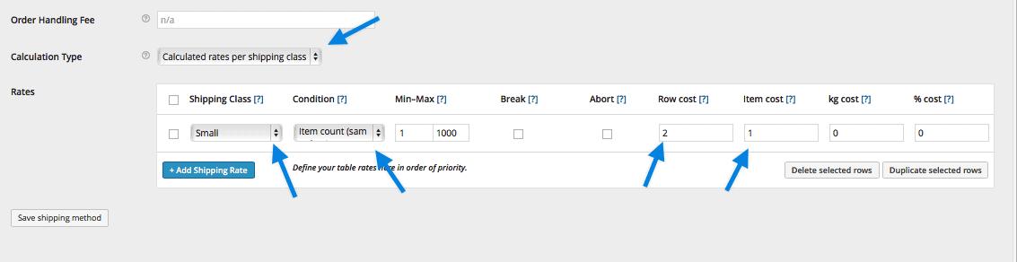 如何配置运费费率表Table Rate Shipping