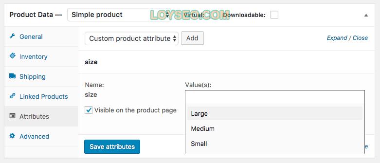 attributes6 - 如何在WooCommerce中管理产品类别、标签和属性