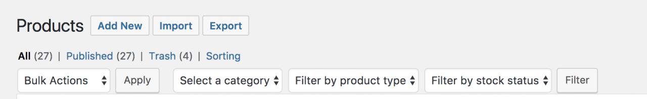 filter products - 如何用WooCommerce管理和添加产品