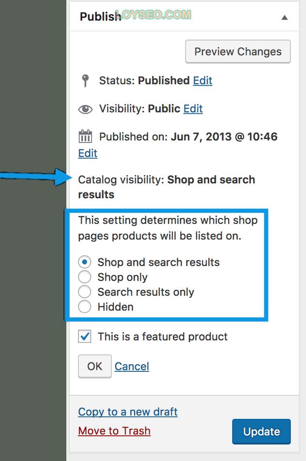 image catalog visibility - 如何用WooCommerce管理和添加产品