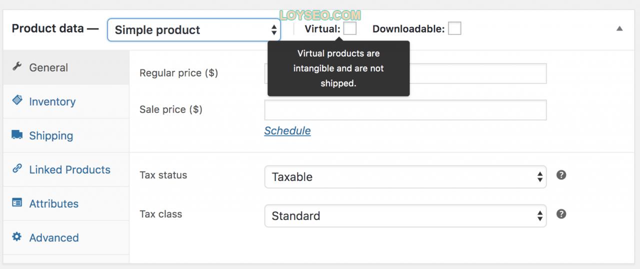 simple product virtual - 如何用WooCommerce管理和添加产品