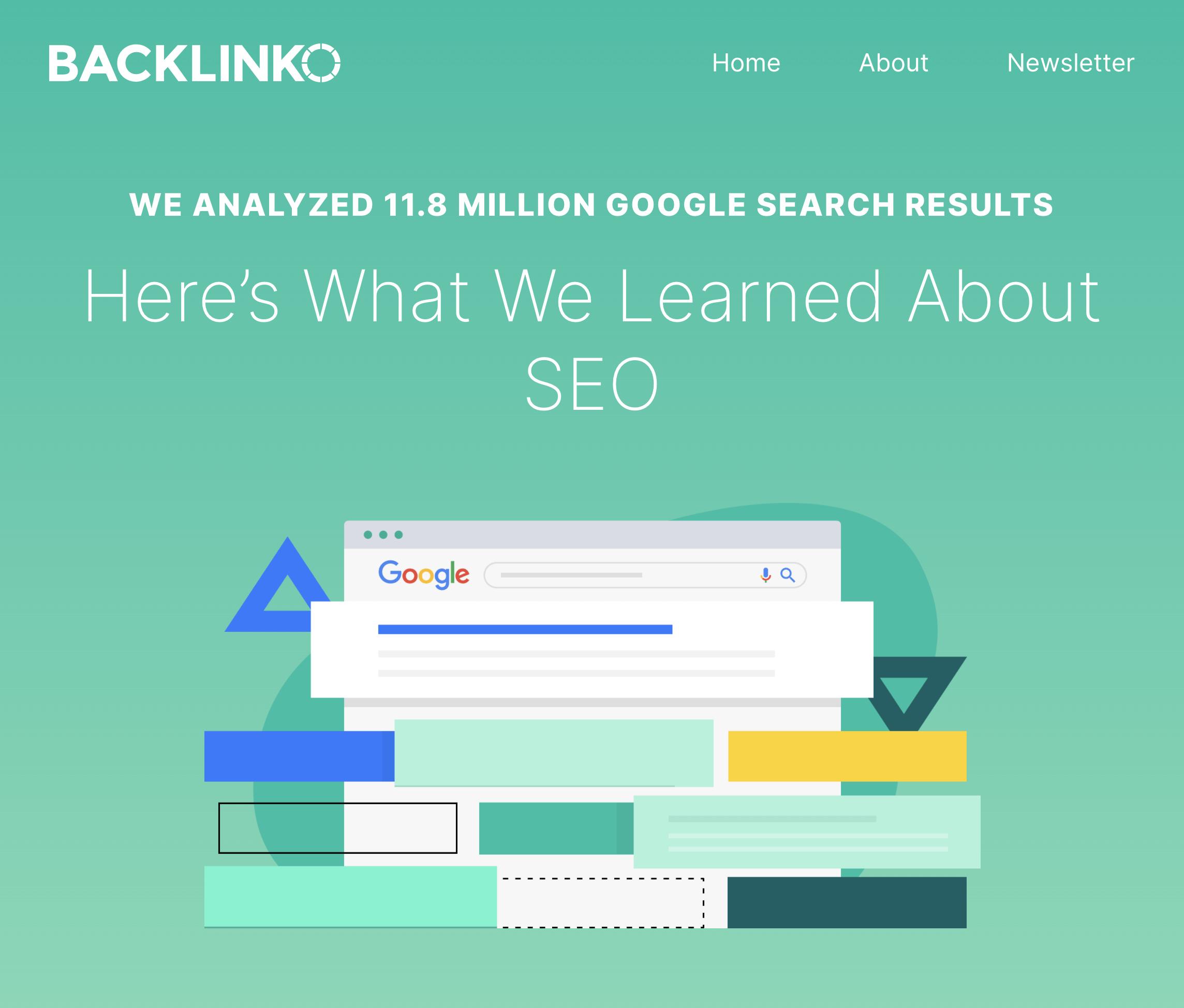 Backlinko – Search engine ranking post