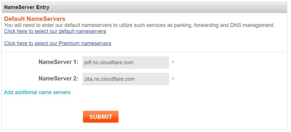 change namesilo ns 1 - Cloudflare教程:如何给网站开通免费的Cloudflare CDN