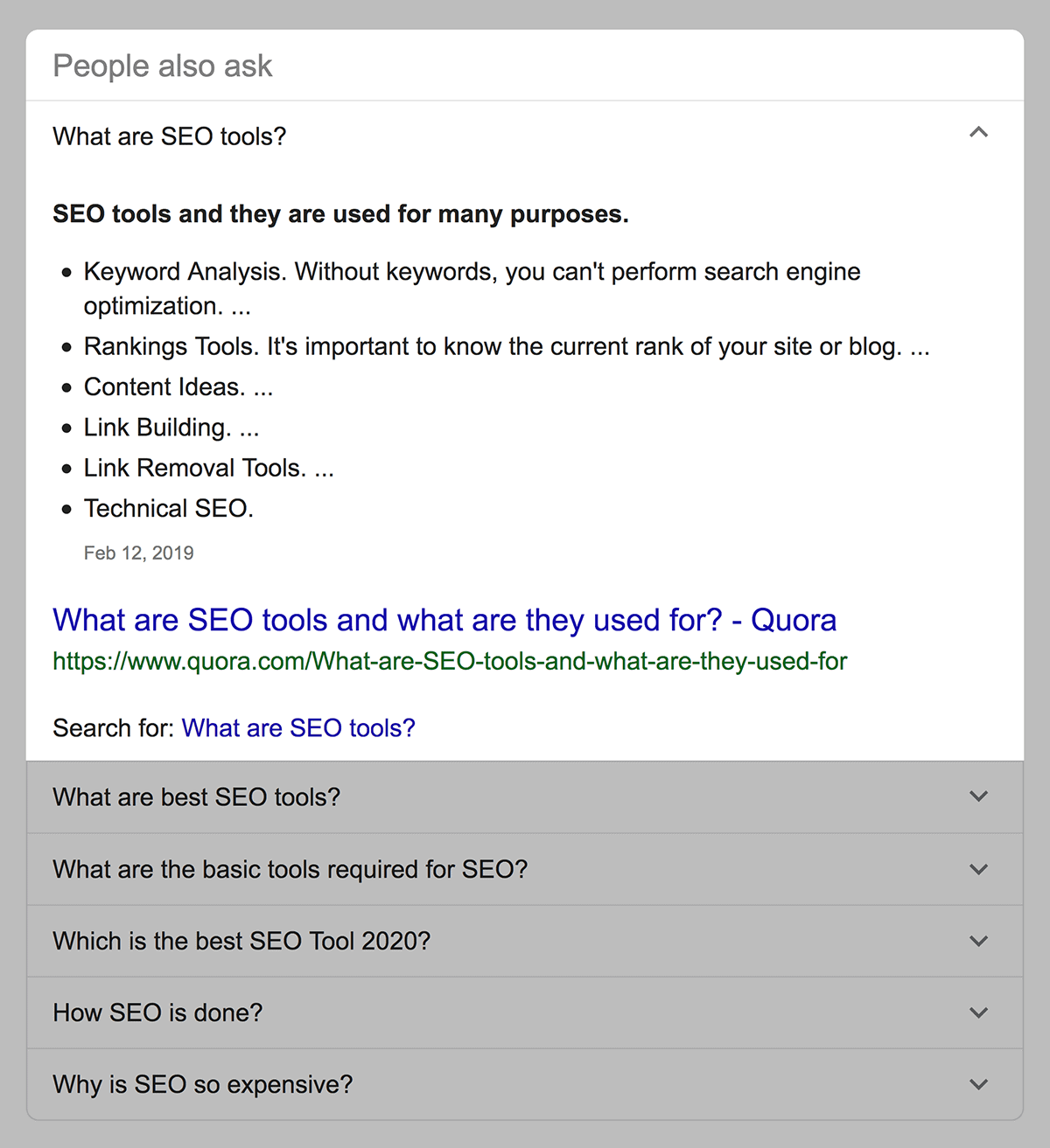 people also ask section - 什么是SERP?