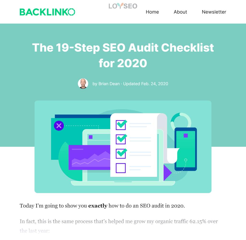 Backlinko – SEO Site Audit Post