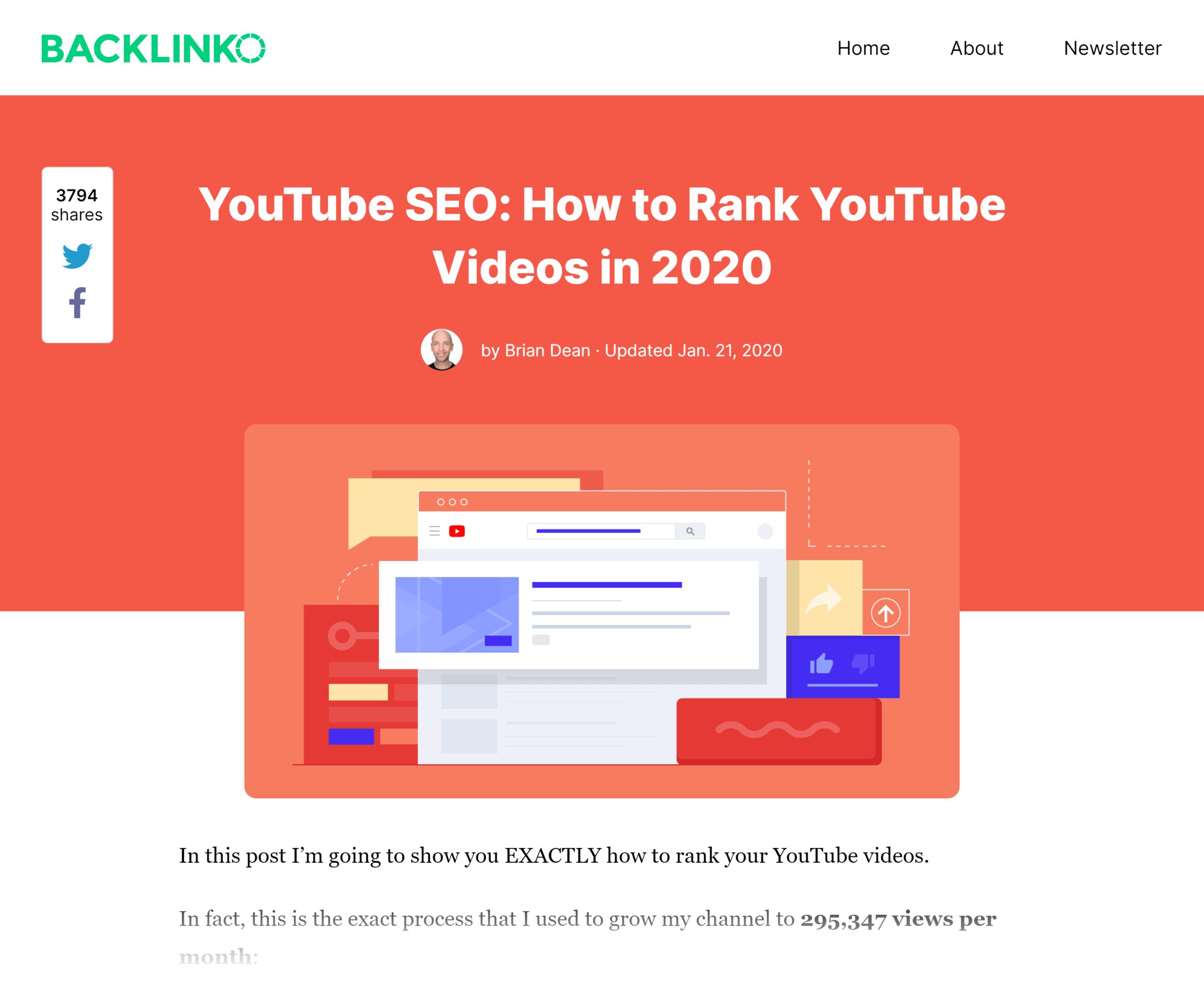 Backlinko – How to rank YouTube videos post