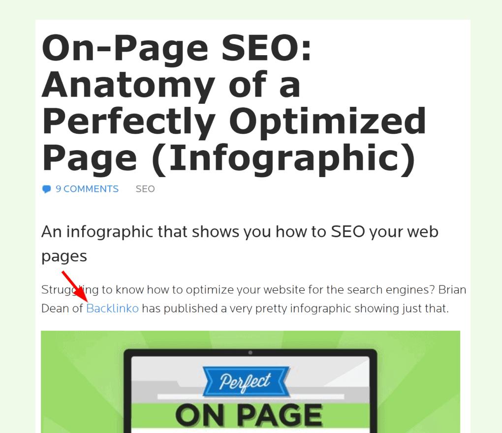 Infographic backlink