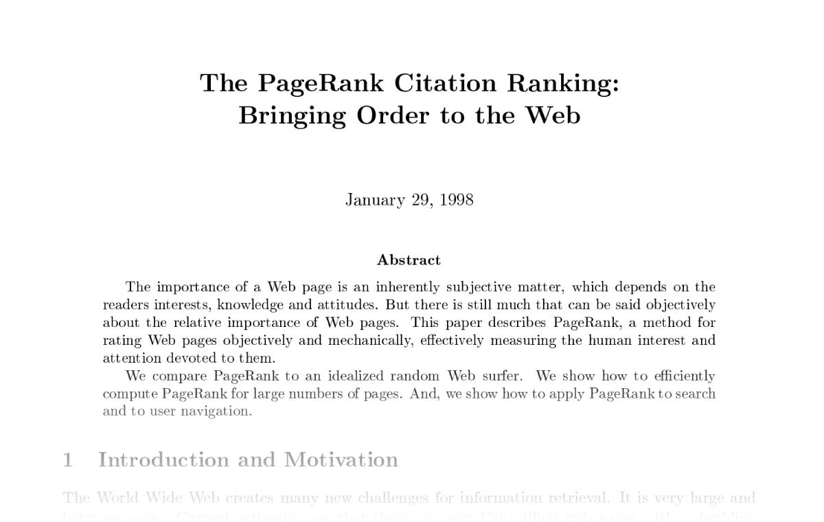 PageRank citation